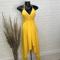 Vestido Com Pontas Amarelo