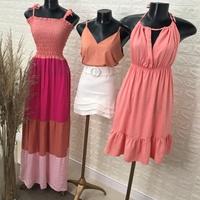 Vestido Frente Unica Rosa Claro