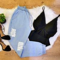 Calça Cargo Jeans