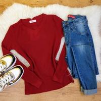 Blusa Trico Lisa - Vermelho