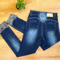 Calça Jeans Com Detalhe Na Barra Love (melinda)