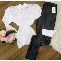 Blusa De Lã Com Gola - Branca