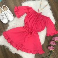 Conjunto | Shorts e Cropped Ciganinha|rosa