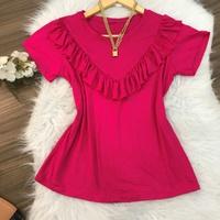 Blusa Com Babado Pink