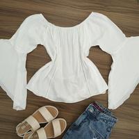 Blusa Bata Ciganinha Branca
