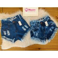 Shorts Jeans Lirus Detalhes Desfiados