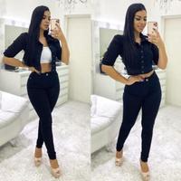 Calça Jeans Preta Pilily
