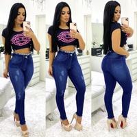 Calça Jeans Melinda Com Desfiado Na Cintura