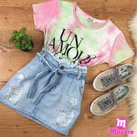 Mini Saia Jeans Melinda