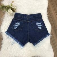 Shorts Jeans Lirus Escruro Desfiado