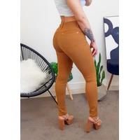 Calça Jeans - Cor Caramelo