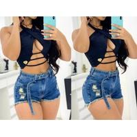 Shorts Jeans Melinda Com Cinto