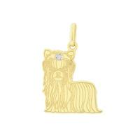 Pingente Cachorro Yorkshire em Ouro 18K - MI13318 - MICHELETTI JOIAS