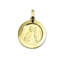 Pingente Medalha São Judas Tadeu em Ouro 18K - 286/356 - MICHELETTI JOIAS