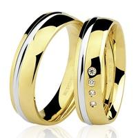 PAR de Aliança com Brilhantes em Ouro 18K - 76.0170.4.004 - MICHELETTI JOIAS