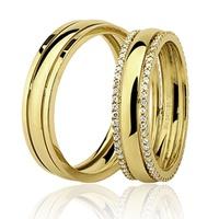 Par de Aliança com Brilhantes em Ouro 18K - 76.0226.2.059 - MICHELETTI JOIAS