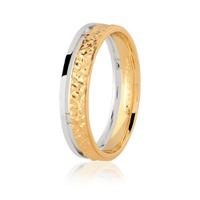 Aliança em Ouro 18K Bicolor Trabalhada 4,65mm - 75.0279.04.0... - MICHELETTI JOIAS