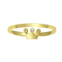 Anel Infantil de Coroa em Ouro 18K - MI12670 - MICHELETTI JOIAS