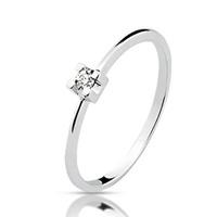 Anel Solitário de Diamante em Ouro Branco 18K - MI9939 - MICHELETTI JOIAS