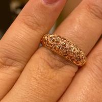 Anel de Ouro Rosé 18K Flores Diamantadas - MI24451 - MICHELETTI JOIAS