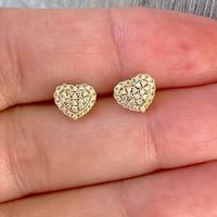 Brinco de Coração com Brilhantes em Ouro 18K - MI9928 - MICHELETTI JOIAS