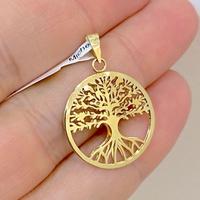 Pingente Árvore da Vida Vazado Duplo em Ouro 18K - MI25309 - MICHELETTI JOIAS