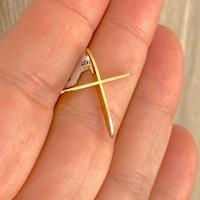 Pingente Cruz de Ouro 18K Polida - MI23666 - MICHELETTI JOIAS