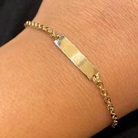Pulseira Infantil de Chapa Cartier Arredondada Ouro 18K - M... - MICHELETTI JOIAS