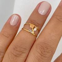 Anel de Ouro 18K Rosa Flor 3 Cores - MI23817 - MICHELETTI JOIAS