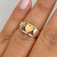 Anel 5 Corações em Ouro 18K Bicolor - MI25127 - MICHELETTI JOIAS
