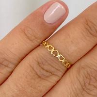 Anel Corações Mini em Ouro 18K - MI25167 - MICHELETTI JOIAS