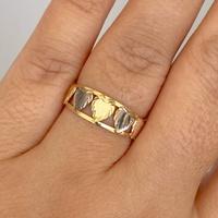 Anel 5 Corações em Ouro 18K Bicolor Menor - MI25128 - MICHELETTI JOIAS