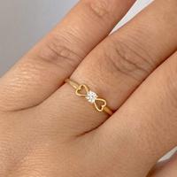 Anel de Ouro 18K Solitário de Zircônia com Coração - MI25176... - MICHELETTI JOIAS
