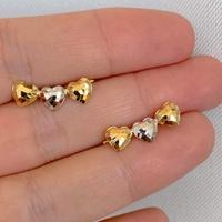 Brinco EarCuff 3 Corações Ouro 18K Tricolor - MI25130 - MICHELETTI JOIAS