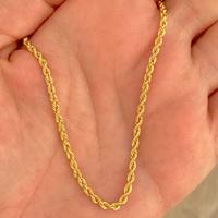 Cordão Torcido de Ouro 18K 45cm - MI24804 - MICHELETTI JOIAS