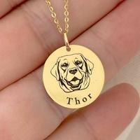 Pingente Cachorro Labrador em Ouro 18K com Nome Personalizáv... - MICHELETTI JOIAS