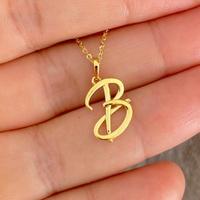 Pingente de Letra B de Ouro 18K Feminino - MI25275 - MICHELETTI JOIAS