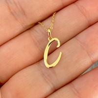 Pingente de Letra C de Ouro 18K Feminino - MI25276 - MICHELETTI JOIAS