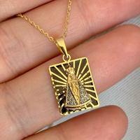Pingente de Nossa Senhora Aparecida Ouro 18K Esmaltado - MI2... - MICHELETTI JOIAS