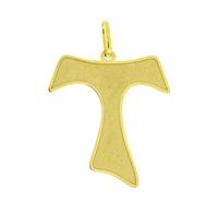 Pingente de Cruz de Tau de Ouro 18K - MI20346 - MICHELETTI JOIAS