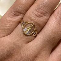 Anel Nossa Senhora Aparecida Ouro 18K Bicolor - MI23590 - MICHELETTI JOIAS