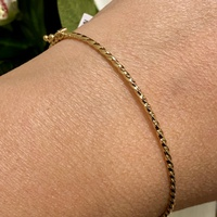 Bracelete Torcidinho em Ouro Rosé 18K 1,3mm - MI19708 - MICHELETTI JOIAS