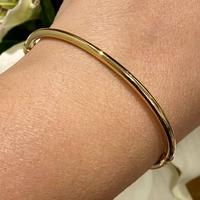 Bracelete Adulto Ouro 18K Fio Redondo 3mm - MI24455 - MICHELETTI JOIAS