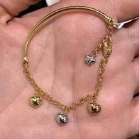 Bracelete Infantil Portuguesa com Pingentes Ouro 18K - MI254... - MICHELETTI JOIAS