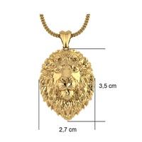 Pingente Personalizado de Leão em Ouro 18K - MiPERSO - MICHELETTI JOIAS