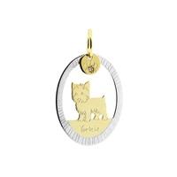Pingente Cachorro Yorkshire Bicolor em Ouro 18K - MI18036 - MICHELETTI JOIAS