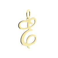 Pingente Letra E de Ouro 18K - MI18026 - MICHELETTI JOIAS