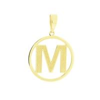 Pingente Letra M de Ouro 18K - MI18223 - MICHELETTI JOIAS