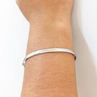 Bracelete de Ouro Branco 18K Feminino Anatômico - MI20627 - MICHELETTI JOIAS