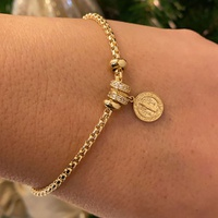 Pulseira Moment de Ouro 18K com Medalha de São Bento Modelo ... - MICHELETTI JOIAS